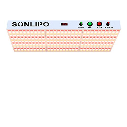 SONLIPO SPB2000 210W LED Grow Light, 5x5 ft Coverage, Dimmable Full Spectrum,Timers Function, Daisy Chain Veg & Bloom Plant Growing Lamps for Indoor Growing Hydroponic COB Grow Lights,High Yield PPFD