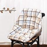 Glzcyoo Schreibtisch-Sitzstuhl-Kissen warm Comfort Leinen Plüsch Schreibtisch Sitzkissen Unterstützung Taille Rückenlehne Sitzkissen Bürostuhl Küchenstuhl mit verstellbaren...