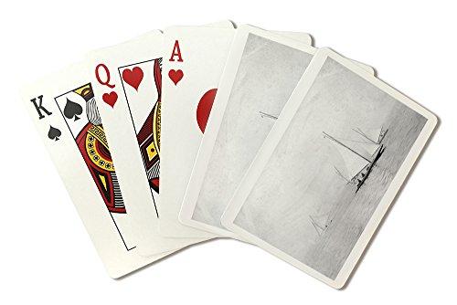 Astoria, Oregon Annual Regatta Sailing Photograph (Playing Card Deck - 52 Card Poker Size with Jokers)