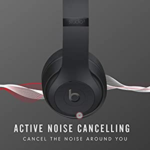 Beats Studio3 Wireless Over‑Ear Headphones - Matte Black (Latest Model)