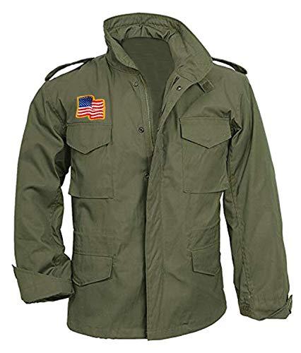 Prime-Fashion Men's Outerwear U-S Army Military Green Cotton Jacket, Large