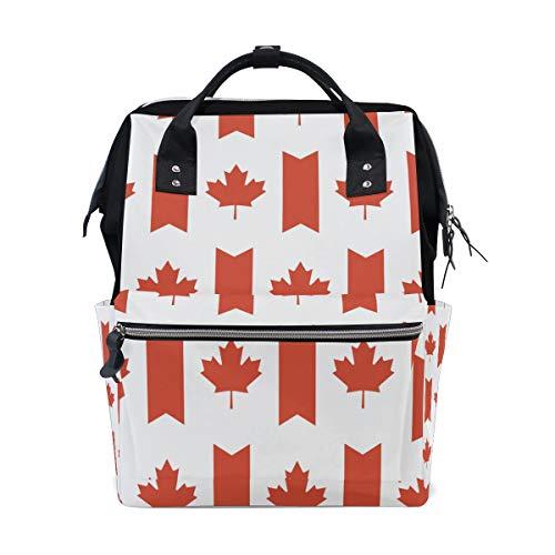 Bandera de Canadá Mamá Bolsa de viaje Mochila de pañales Bolsa de pañales Bolsa de pañales Bolsas para el cuidado del bebé Gran capacidad