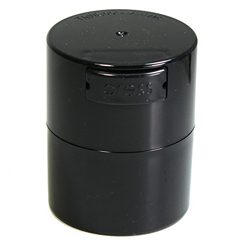 Minivac - 10g to 30 grams Vacuum Sealed Container - Black Pearl