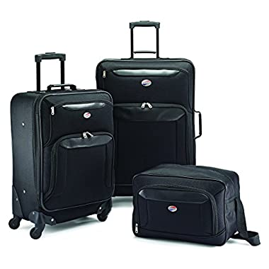 American Tourister Brookfield 3 Piece Set, Black, One Size