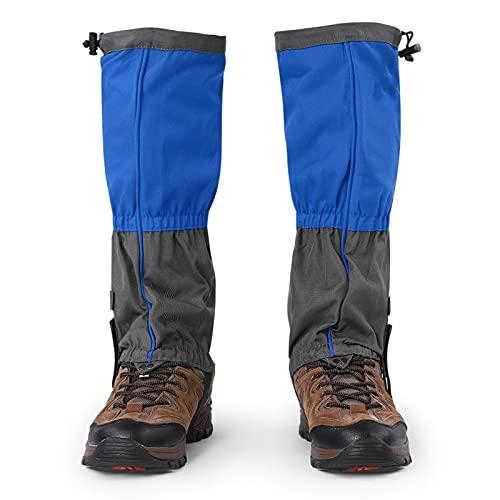 1 par de mallas de senderismo impermeables al aire libre de tela Oxford resistente al desgaste Calzado deportivo Fundas para botas para adultos Esquí Caza Pesca Senderismo Camping Legging(azul)