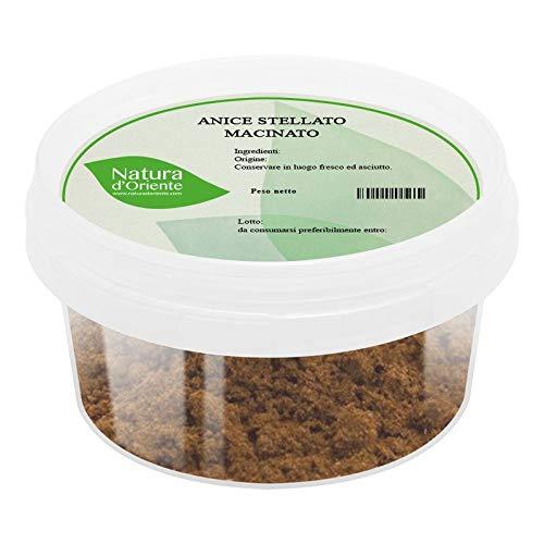 NATURA D'ORIENTE - Anice Stellato macinato 150g   Prima Qualità   Confezionato in un barattolo ermetico salva aromi