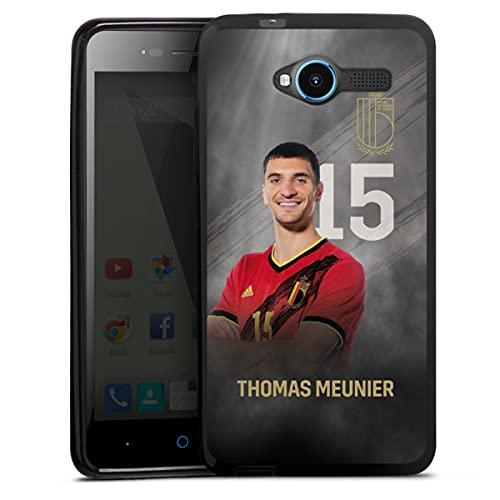 DeinDesign Silikon Hülle kompatibel mit ZTE Blade L3 Hülle schwarz Handyhülle Offizielles Lizenzprodukt Fußball Belgien