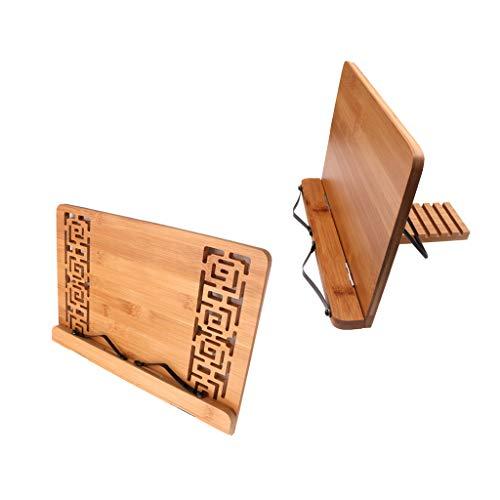 FLAMEER 2pcs Leseständer Buchhalter aus Holz Notenständer Zum Lesen, Musik stehen, Klavier spielen