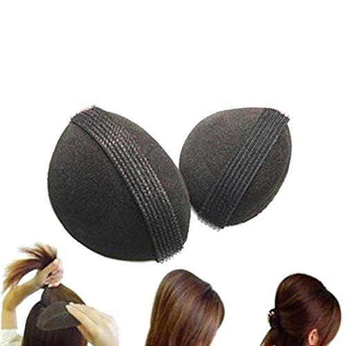 HugeStore 2er Set Haarkissen Haar Volumen Schaumstoff Kissen Volumenkissen mit Klettband Frisurenhilfe