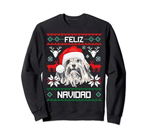 Feliz Navidad Pequeño Perro León - Dulce perro de la Navidad Sudadera
