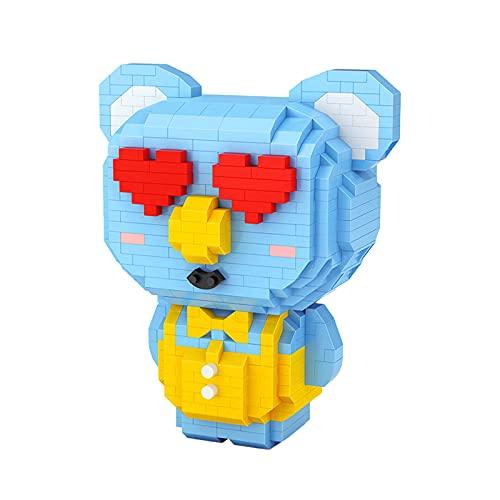 Anoauit Cartoon Tierherz Koala Bär Haustier 3D Modell DIY Mini Diamant Blöcke Ziegelsteine Gebäude Pädagogisches Spielzeug für Kinder