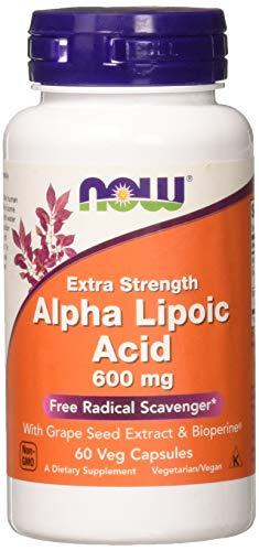 Now Foods Alpha Lipoic Acid, 600 mg - 60 Cápsulas