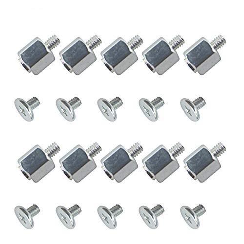 CCIIO Juego de 10 Kits de Montaje Manual, Tuerca Hexagonal de Tornillo de Soporte para Placa Base SSD A-Sus M.2