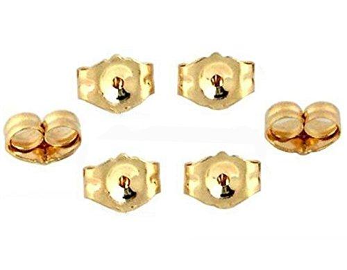 6-Piece 14K Yellow Gold Earring Backs Replacement Earring Backs