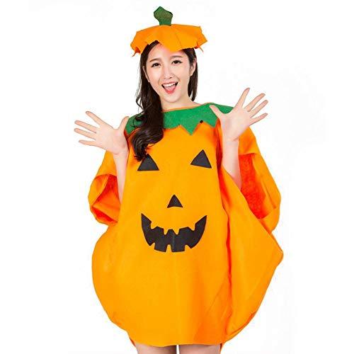 Cokeymove Disfraz de Calabaza de Halloween para niños Adultos Ropa de Fiesta Cosplay Ropa