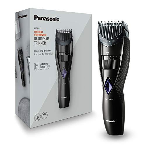 Panasonic ER-GB37-K503 - Cortapelos impermeable recargable con peina-guía, 2 en 1 barba y cabello, color negro