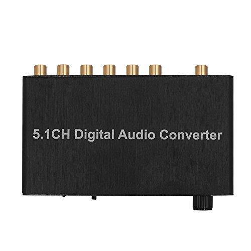 Docooler Convertitore Audio Digitale con Adattatore Audio HD Stereo da 3,5 mm Supporta LPCM/PCM/Raw
