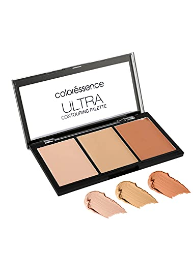 COLORESSENCE Ultra Contouring Palette Creme Satin Finish, Lightweight Longlasting Highlighter...