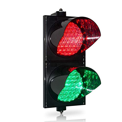 BBMi DC9-36V 200mm(8inch) Traffic Light, Red/Green Stop and Go Light, Traffic Signal Light, PC Housing Waterproof IP65 Industrial LED Traffic Stop Light, Dock Bay Indicator Warning Light