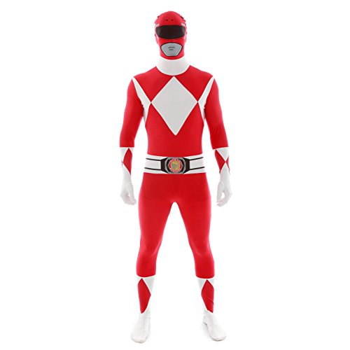 Morphsuits Power Rangers Disfraz de Talla Adulto, Color Rosso, XL (MLPRRX)