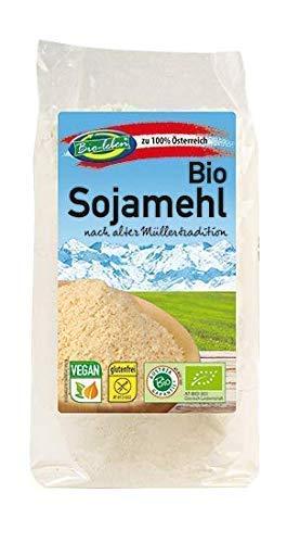 Bio-leben österreichisches Bio Sojamehl glutenfrei 1,75 kg gentechnikfrei, 100% Sojabohnen aus Österreich, getoasted und entbittert 7x250g