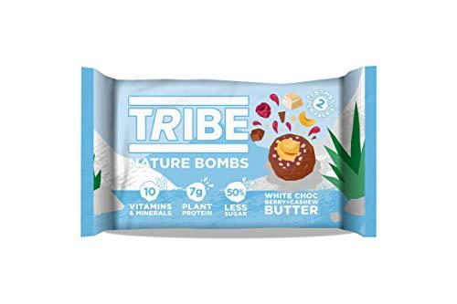 TRIBE Nature Bombs - White Choc Berry - Vegan, Gluten & Dairy Free Energy Balls (12 x 40g)