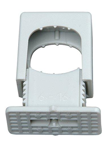 Kopp 343404099 Druck-Iso-Schellen 6 - 16 mm, 1-fach, mit M-6-Gewinde, 50 Stück, grau
