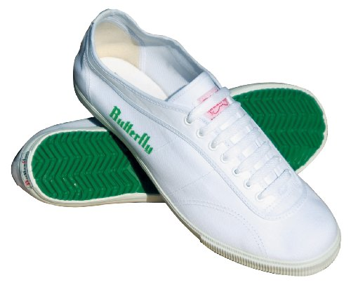 Butterfly 8001 Classic Table Tennis Shoes (White, 5)