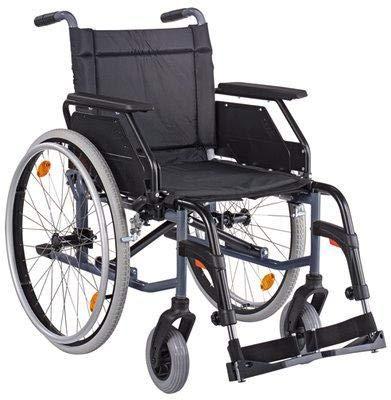 CANEO B SB45 Kombiarml.,PU anthrazit(Dietz), Handbetriebene Standard-Rollstühle