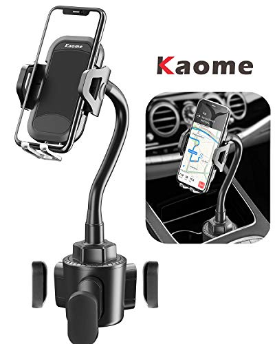 Cup Holder Phone Mount, Kaome Cup Phone Holder for Car Universal Adjustable Gooseneck Cup Holder Cradle for Cell Phone iPhone 11 Pro/11 Pro Max/11/X/Xs/Xs Max/8/8 Plus, Samsung, Motorola, Xiaomi, LG