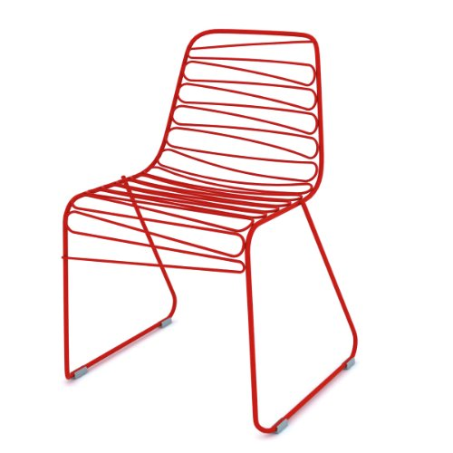 Magis Flux Stuhl, rot lackiert BxHxT 54.5x78x51cm