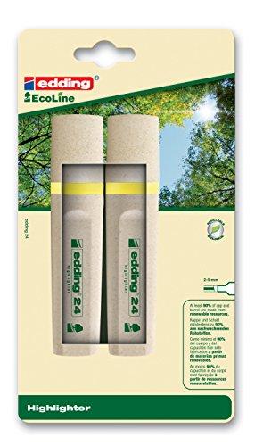 Edding 4-24-2-1005 Textmarker Highlighter 24 EcoLine, nachfüllbar, gelb