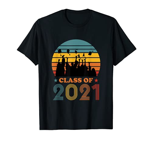 Retro Class of 2021 Graduation High School Senior Graduate T-Shirt