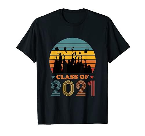 Retro Class of 2021 Graduation High School Senior Graduate T-Shirt