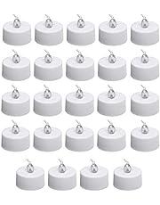 الشموع LED، مصباح الشاي بدون لهب مصباح وامض واقعي ساطع يعمل بالبطاريات مصباح الشمعة لحفلات الزفاف والاحتفالات والمواسم وأعياد الميلاد