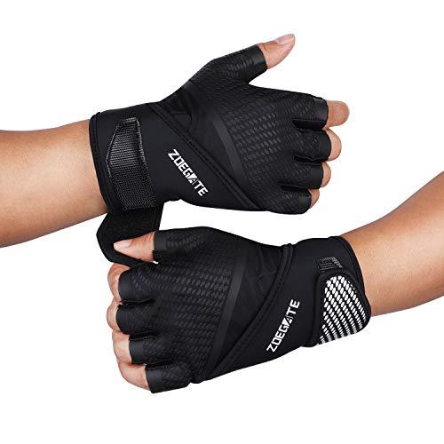Zoegate Fitness Handschuhe Trainingshandschuhe Gewichtheben Handschuhe mit Handgelenkstütze Voll Palm Schutz & Extra Grip Sporthandschuhe Crossfit Handschuhe für Bodybuilding Damen&Herren (L)