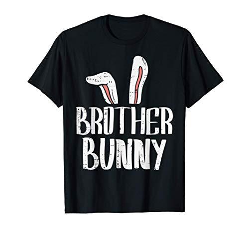 Brother Bunny Ears Cute Easter Family Matching Big Bro Boys Camiseta
