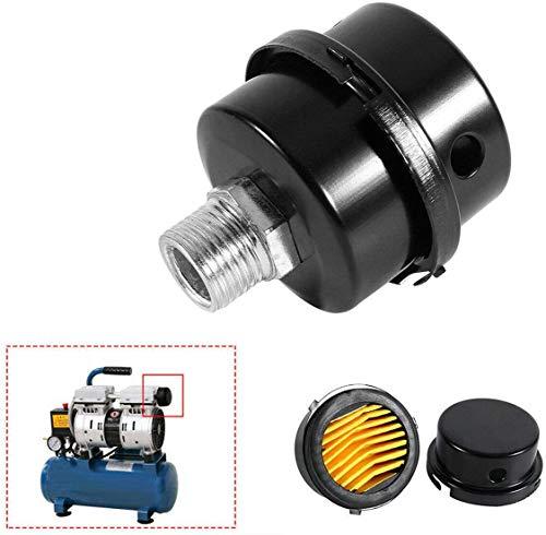 2pcs 3/4' PT 20mm Air Compressor Silencer Filter Metal Air Compressor Intake Filter Noise Muffler Silencer