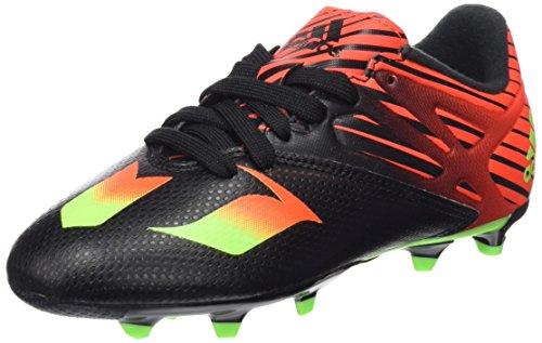 adidas Messi 15.3 J Zapatillas Niños, Multicolor (Negro / Verde / Rojo), 38 2/3 EU