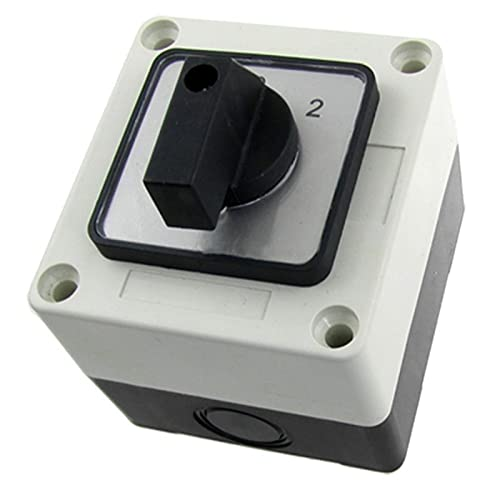 JSJJAET Interruptor Giratorio LW28-20 / D0724.3 AC 440V 240V 1-0-2 Coloque el Interruptor de Cambio de Leva rotativa