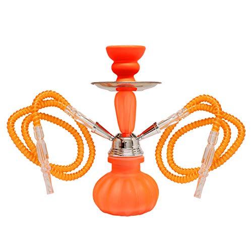 MADGROW Cachimba Neon. Naranja. Shisha de 25 cm. SÚPER Pack 10 Pastillas carbón + Gomas de Recambio + convertidor a una Manguera + sartén carbón + Pinzas con agujereador: Amazon.es: Hogar