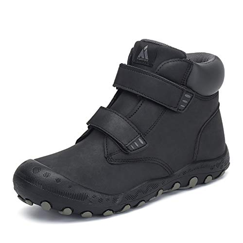 Mishansha Kids Boy's Child Hiking Boot Waterproof Anti Skid Lightweight Outdoor Walking Trekking Shoes Black