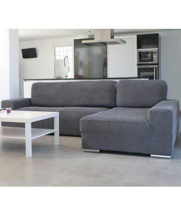 10XDIEZ Housse de canapé Longue B/Long Glamour - Couleur - Gris, Côté - Droite