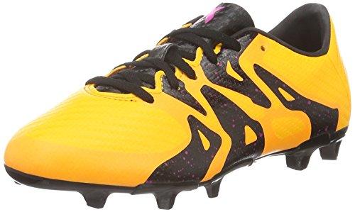 adidas X 15.3 FG/AG J_S74637, Botas de fútbol Unisex niños, Naranja/Negro/Rosa (Dorsol/Negbas/Rosimp), 28 EU