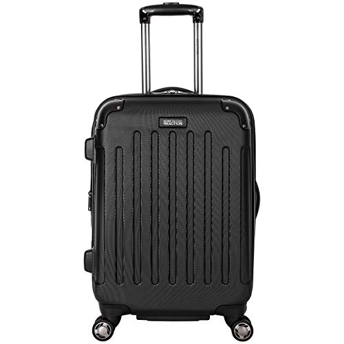 """Kenneth Cole Reaction Renegade 20"""" Carry-On Lightweight Hardside Expandable 8-Wheel Spinner Cabin Size Suitcase, Black, inch"""