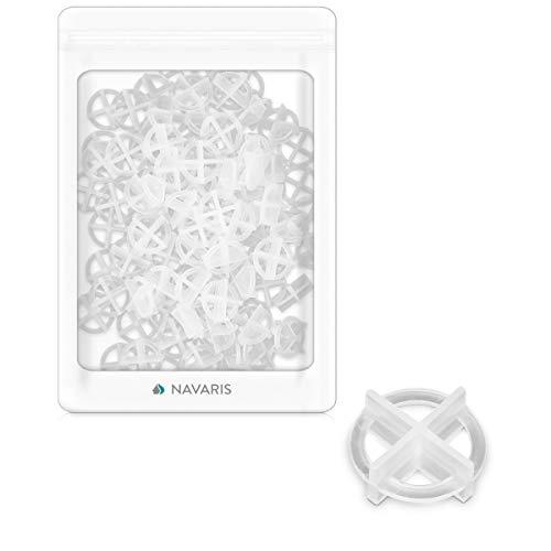 Navaris Set de 100 crucetas para juntas - Pack de 100 separadores de plástico para azulejos baldosas o juntas - Para colocar piezas con precisión