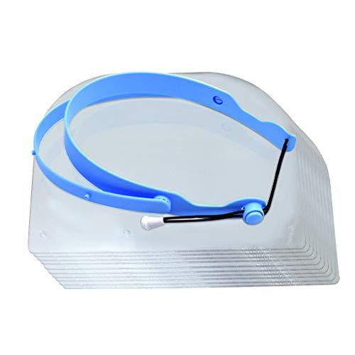 QHJ Dental Anti-Fog Einstellbare Vollmaske mit 10 Plastikschutzfolienmaske