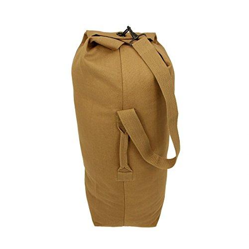 10T TLC Duffle L Bag 80L Seesack 90x30x30 cm Rucksack Sporttasche Canvas Reisetasche 100% Baumwolle