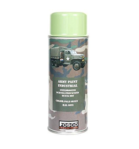 Monstercolors Army Peinture spray 400 ml-Vert pâle-RAL 6021 Véhicule Peinture de camouflage militaire pour Paintball