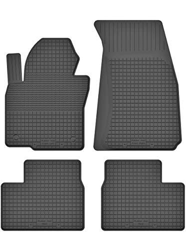 KO-RUBBERMAT Gummimatten Fußmatten 1.5 cm Rand geeignet zur Dacia LODGY (Bj. 2012-2018) ideal angepasst 4 -Teile EIN Set